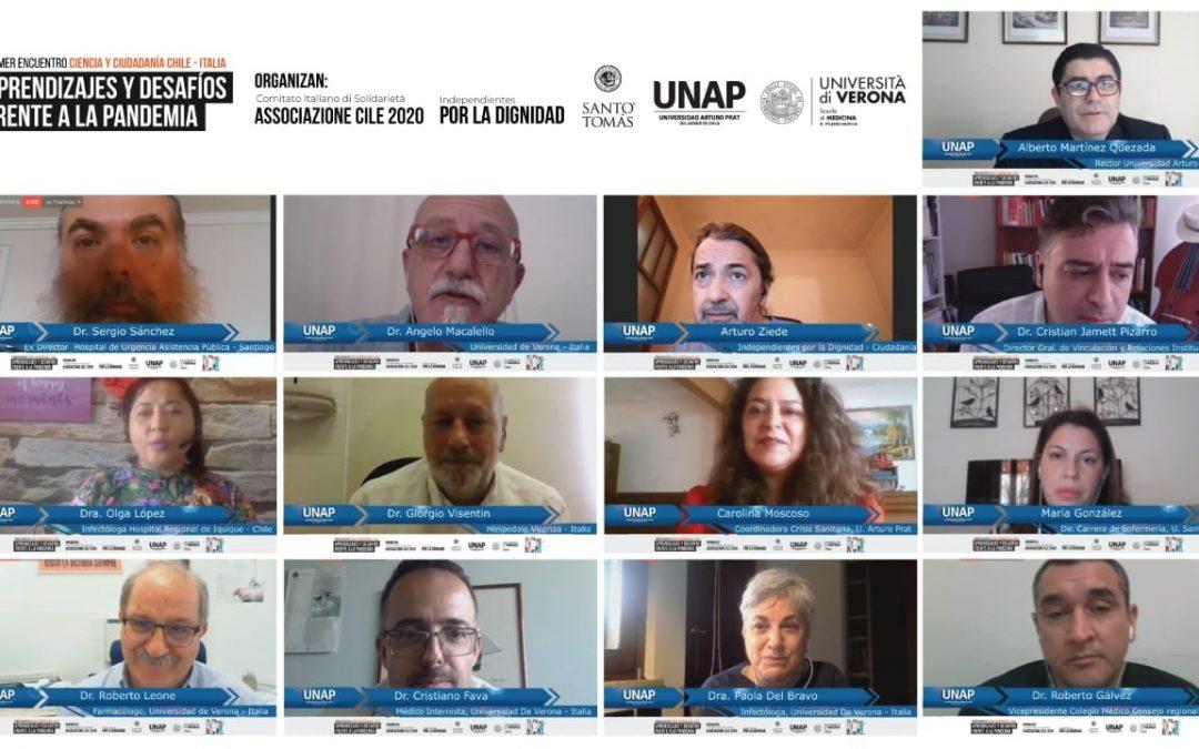 Especialistas de Salud de Chile e Italia analizaron aprendizajes y desafíos frente a la pandemia