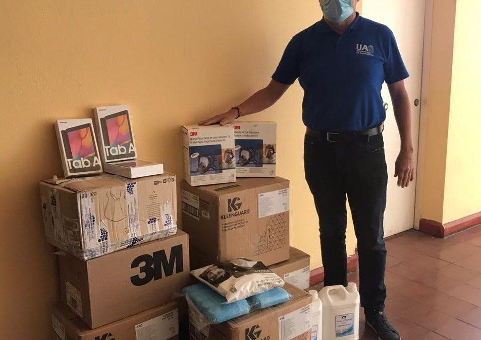 Universidad de Antofagasta recibió equipamiento donado por Minera Lomas Bayas para enfrentar las consecuencias de la pandemia
