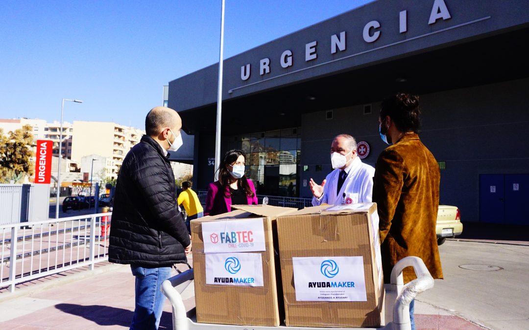 Teck, Mustakis y UTalca entregaron mil escudos de protección facial para personal hospitalario