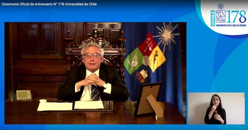U. de Chile conmemora su aniversario 178 reafirmando su compromiso con el país y la educación pública