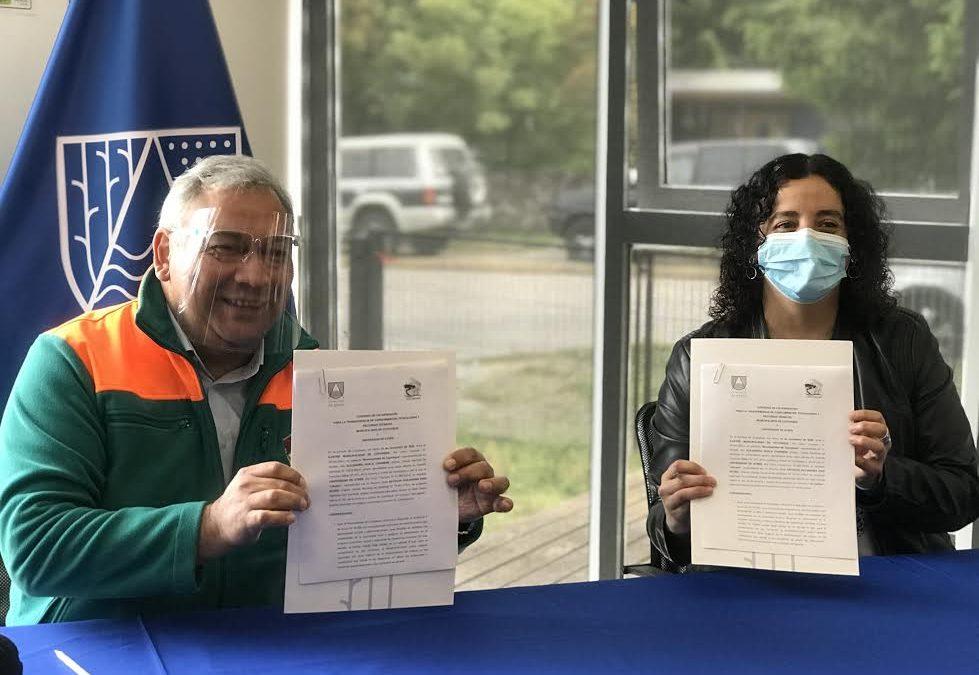 Universidad de Aysén y Municipalidad de Coyhaique firman convenio de formación y transferencia de conocimientos, tecnologías y recursos técnicos