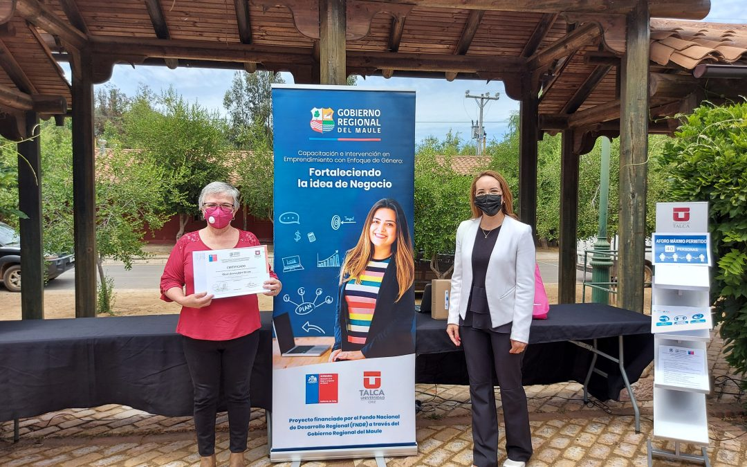 FEN UTalca y SernamEG finalizaron exitoso programa de emprendimiento con enfoque de género