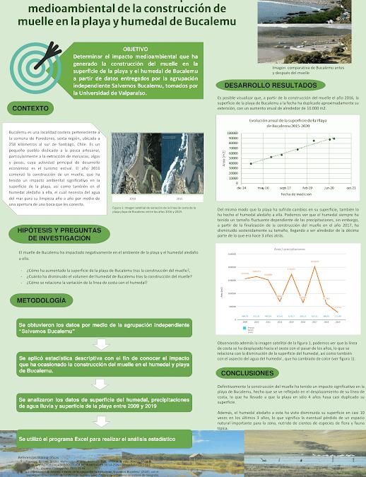 Estudiantes UOH destacan en Concurso de Póster Estadístico con análisis sobre crisis ambiental de Bucalemu