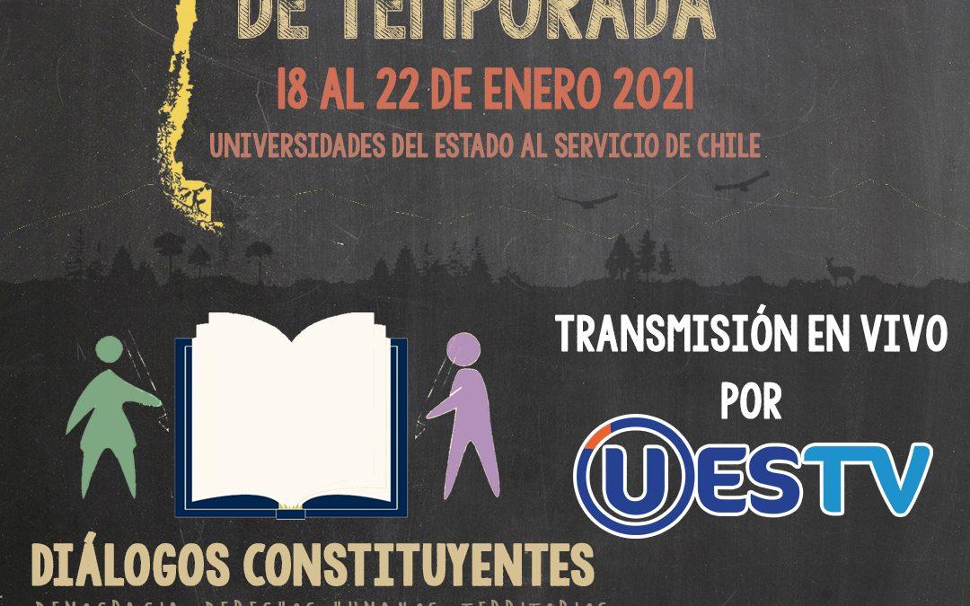 Universidades estatales se unen para convocar a la ciudadanía a reflexionar sobre la nueva constitución en Escuela de Temporada virtual