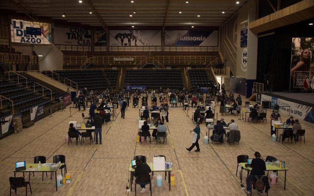 Gimnasio Olímpico UFRO se suma como centro de vacunación en La Araucanía
