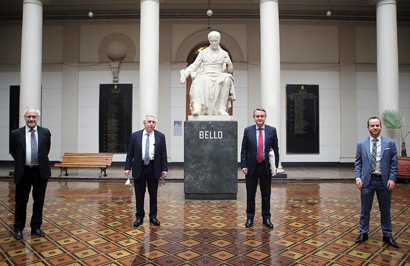 Rector Vivaldi se reunió con el nuevo Embajador de la Unión Europea en Chile