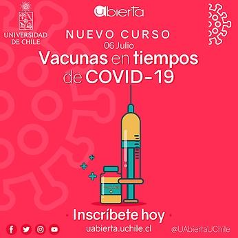 UAbierta de la Universidad de Chile ofrece nuevo curso «Vacunas en tiempos de COVID-19»