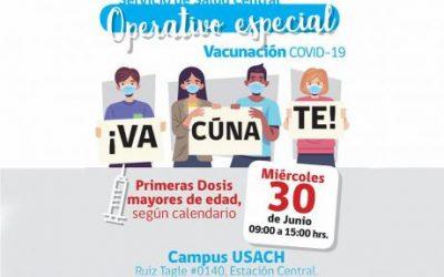 Campus Usach se transforma en vacunatorio para jóvenes de entre 18 y 30 años