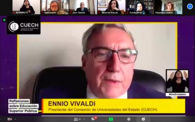 Rector Ennio Vivaldi: «El proceso actual nos ofrece la oportunidad de recuperar principios y derechos que fueron reducidos al mínimo en la Constitución de 1980»